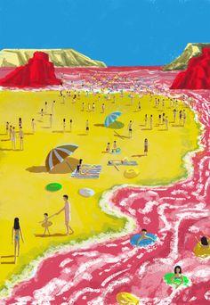 Teddy Kang is a Toronto-based art director, designer and illustrator, who has been creating vivid award- winning work around the globe. Art Director, Good Day, Illustrators, Fair Grounds, Nice, Outdoor Decor, Artwork, Summer, Travel