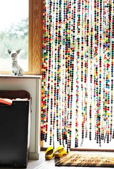 Hippie beaded curtain....Never had them but remember friends who did!  LOL