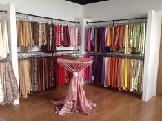 Great place to try out linen combinations in person! The Tabletoppers Chicago showroom, newly remodeled!