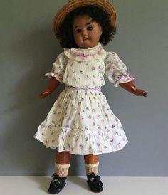 "Schoenau & Hoffmeister German brown bisque girl doll - SO pretty! 17"" | eBay"