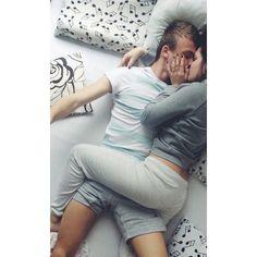 Cuddles with boyfriend | Tumblr via Polyvore
