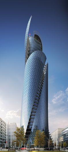Torre Espiral Mode Gakuen é um arranha-céu de 170 m de altura. Construído em Nagoya, Japão, em 2008. Arquiteto: Nikken Sekkei, Japan.