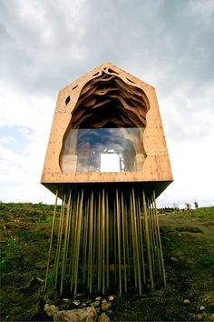 ahhh - looks like someone went to architecture school! Freyas Cabin | Studio Weave.#Repin By:Pinterest++ for iPad# - photo © David Williams