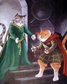 Susan Herbert  ~ Shakespeare Cats ~ 'Macbeth'