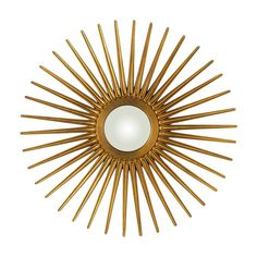 Add a stunning focal point to any wall with this gorgeous antique gold sunburst mirror. This beautiful wall mirror features a convex mirror. Convex Mirror, Mirror Art, Floor Mirror, Gold Starburst Mirror, Sunburst Mirror, All Modern, Modern Decor, Beautiful Wall, Lowes Home Improvements