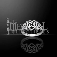 Celtic Heart and Knotwork Ring - PS-TR1766 by Medieval Collectibles