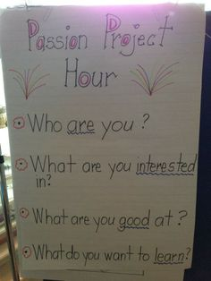 Passion Projects kickoff! The Write Stuff Teaching