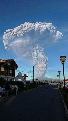 Erupción volcan Calbuco, 2015.