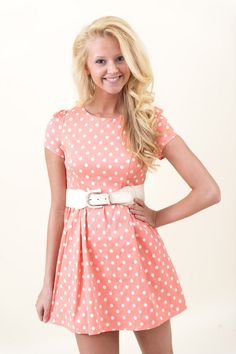 Everybody's Darling Dress-Coral $44