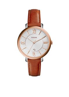 Fossil® Women's Jacqueline Brown Leather 3-Hand Watch