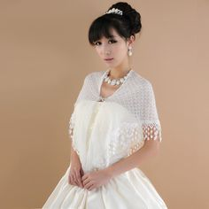 Villi bride shawl simple dishes white shawl of models