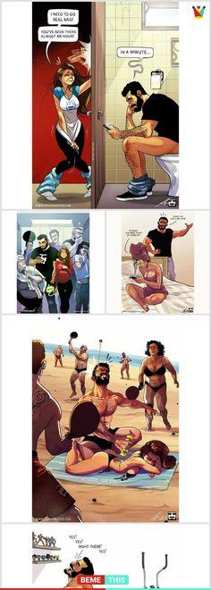 15 Brilliant Comics Of Couples That Will Make Your Day #couples #brilliantcomics #couplesproblems #oneofthosedays #artistofinstagram #humour #jude_devir