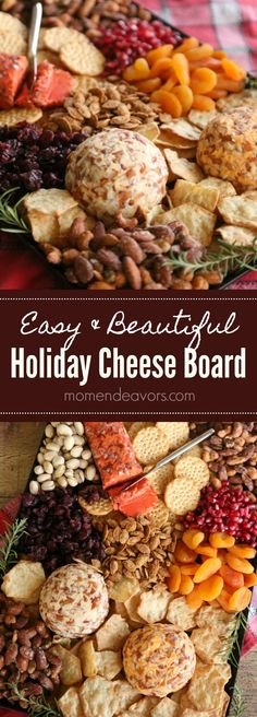 Easy & Beautiful Holiday Cheese Board, perfect holiday appetizer for easy holiday entertaining. #InspireWithCheese AD