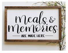 Kitchen Sign Diy, Farmhouse Kitchen Signs, Kitchen Quotes, Home Decor Kitchen, Farmhouse Decor, Family Kitchen, Kitchen Canvas, Kitchen Wall Art, Home Decor Signs