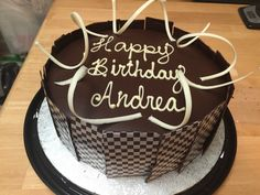 #Black and White Cake (decadent chocolate cake filled with white chocolate whipped ganache with dark chocolate pearls)
