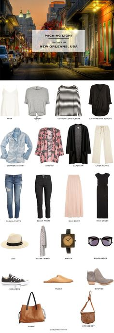 What to Pack for New Orleans #PackingList #packinglight #travellight #travel #traveltips