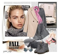 """Romwe Grey Sweater"" by goreti ❤ liked on Polyvore featuring Fendi"