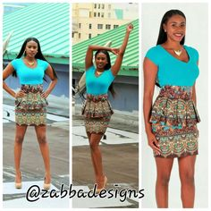 ALAYA African Dashiki Fabric Short Midi Dress