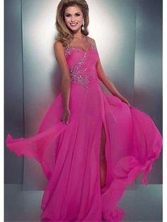 Alluring Chiffon Halter Neckline Floor-length A-line Prom Dress