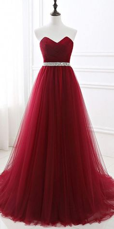 Sweetheart Long Tulle Prom Dress with Beaded Waist Fashion Long School Dance Dresses Custom Made Long Evening Gowns Women's Fashion Dresses Source by dresses cocktail Sequin Prom Dresses, Pretty Prom Dresses, Sweet 16 Dresses, A Line Prom Dresses, Tulle Prom Dress, Ball Gown Dresses, Quinceanera Dresses, Homecoming Dresses, Beautiful Dresses