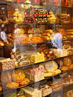 Pastry shop in Assisi, province of Perugia , Umbria region Italy