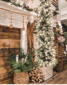 30 Awesome Rustic Farmhouse Style Christmas Home Decor Ideas