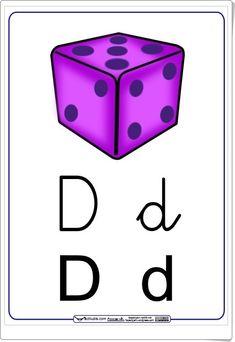 "Letra ""D"" en letra cursiva y de imprenta (Cuadernillo del método Actiludis) Spanish Alphabet, Cube, Clip Art, Teaching, Education, Cards, Alphabet, Kindergarten Teachers, Sign Language"