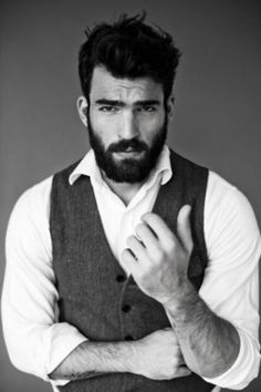 Beard and vest = deadly combo