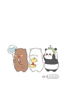 credits to chxrry. Cute Panda Wallpaper, Bear Wallpaper, Cute Disney Wallpaper, Kawaii Wallpaper, Wallpaper Iphone Cute, We Bare Bears Wallpapers, Panda Wallpapers, Cute Cartoon Wallpapers, Ice Bear We Bare Bears