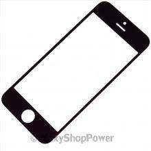 APPLE RICAMBI VETRINO FRONTALE ANTERIORE ORIGINALE VETRO DISPLAY IPHONE 5S NERO BLACK NEW - SU WWW.MAXYSHOPPOWER.COM