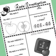 I like the idea of an apple investigation paper.