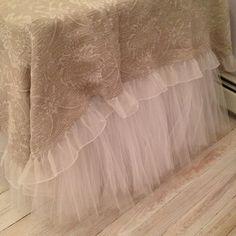 Lavender Tulle Bed Skirt
