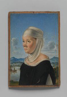 Portrait of a Woman, Possibly a Nun of San Secondo; (verso) Scene in Grisaille - Jacometto (Jacometto Veneziano)