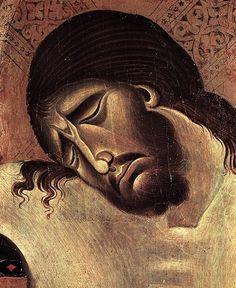 Cimabue (Italian Byzantine Style Painter, 1240-1302) Crucifix (detail) 1268-71