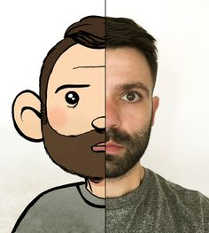 Striptekenaar Floor de Goede laat een voorbeeld zien van #selfiekunst
