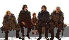 Hurin, Turin, Frodo, Beren, and Hador