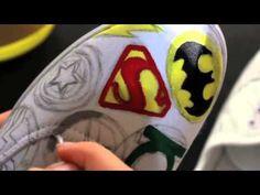 DIY - Painted Superhero Shoes - YouTube