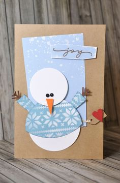 Crafting ideas from Sizzix UK: Do you want to build a snowman? Crafting ideas from Sizzix UK: Do you want to build a snowman? Christmas Card Crafts, Homemade Christmas Cards, Christmas Cards To Make, Christmas Art, Handmade Christmas, Homemade Cards, Holiday Cards, Christmas Card Ideas With Kids, Creative Christmas Cards
