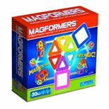 Magformers: translucent colors, easy to manipulate geometric shapes, powerful magnets; building toy enhances cognitive, language, spatial & motor skills, creativity
