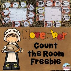 FREEBIE Thanksgiving November Count the Room