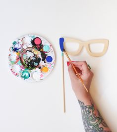 Painted Photo Booth Props