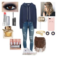 """""""Cool day"""" by tiffany-london-1 ❤ liked on Polyvore featuring mode, Yves Saint Laurent, MANGO, Converse, Glamorous, Beats by Dr. Dre, Kate Spade, Bling Jewelry, Brooks Brothers et Revlon"""