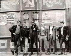 Sunglasses Ron and friends outside The Black Raven Bygone memories