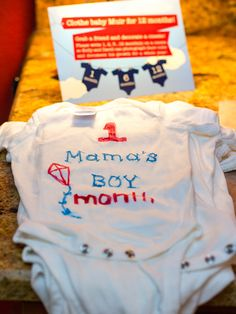 Ideas, decor, and menu options for a red, white and blue air plane themed baby shower.