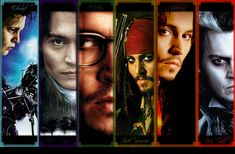 edward S, sleepy hollow,from hell?,pirates of the carabian,once appon a time in mexico, Sweeny Todd