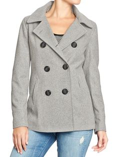 Old Navy | Women's Classic Wool-Blend Peacoats