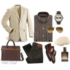 Business Men's Fashion by keri-cruz on Polyvore featuring Sean John, Ray-Ban, PRPS, Edward Green and Hollister Co.