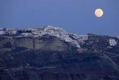 Full moon in Oia, Santorini island, Greece - selected by oiamansion.com