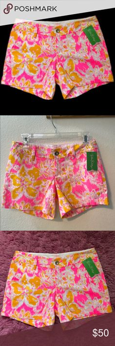 Lilly Pulitzer Callahan Shorts Size 0 🌼new with tag 🌼 Callahan style shorts🌼 cute patterns and colors 🌼offers welcome 🌼 Lilly Pulitzer Shorts