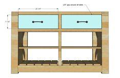 Rustic X Kitchen Island - Double Kitchen Island With Drawers, Mobile Kitchen Island, Rolling Kitchen Island, Rustic Kitchen Island, Kitchen Cart, Kitchen Storage, Woodworking Blueprints, Woodworking Plans, Woodworking Equipment
